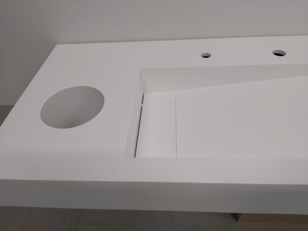 Beckentyp VK in WT-Platte eingeklebt
