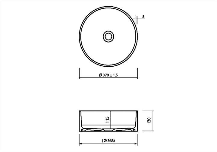 LG HiMacs® Aufsatzbecken CB 330 C