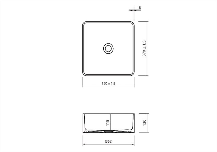 LG HiMacs® Aufsatzbecken CB 330 S