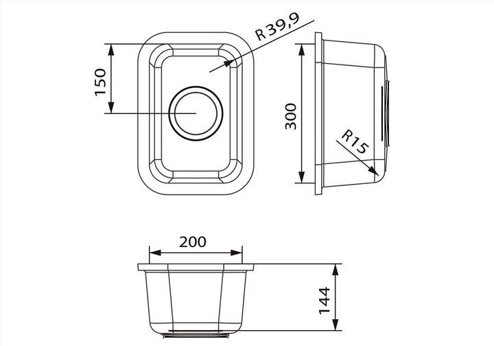 LG HiMacs® Spülbecken CS 203