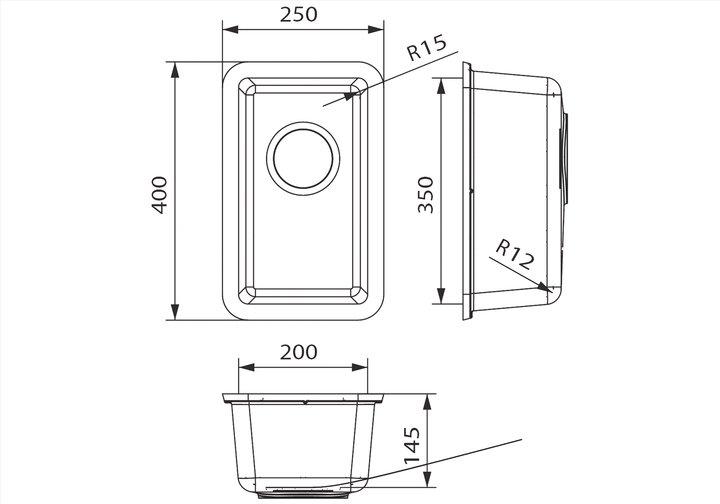 LG HiMacs® Spülbecken CS 204