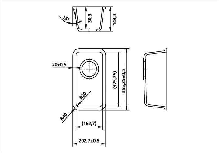 LG HiMacs® Spülbecken CS 325 R