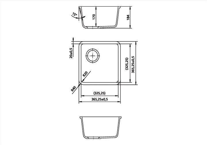 LG HiMacs® Spülbecken CS 325 S