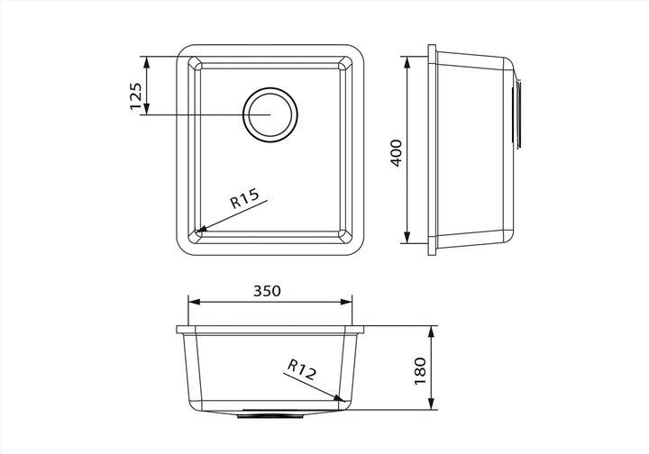 LG HiMacs® Spülbecken CS 354