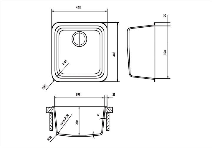 LG HiMacs® Spülbecken CS 398 S