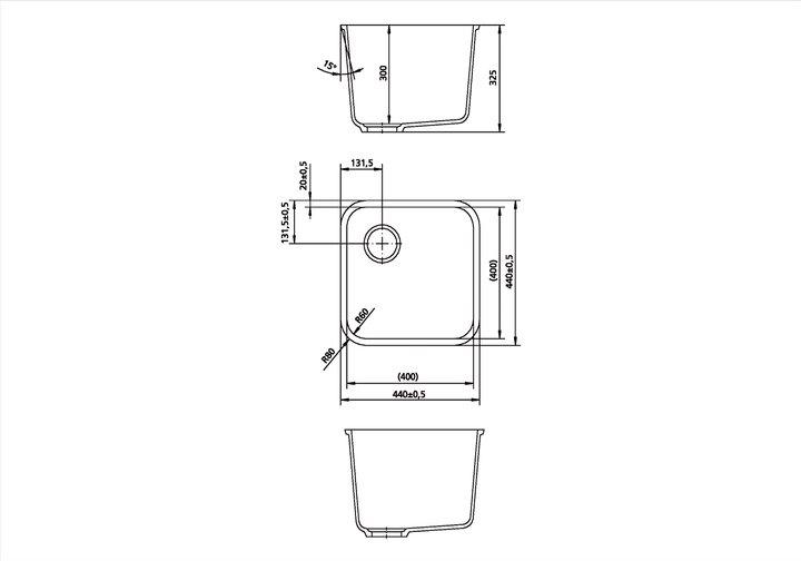 LG HiMacs® Spülbecken CS 400 S
