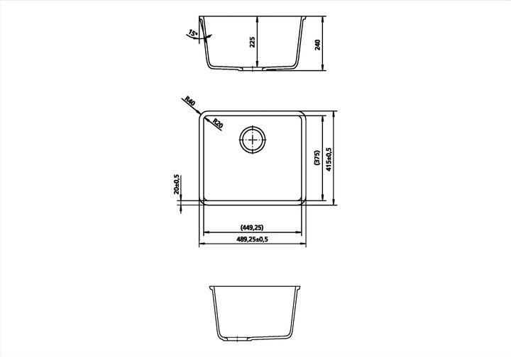 LG HiMacs® Spülbecken CS 449 RL