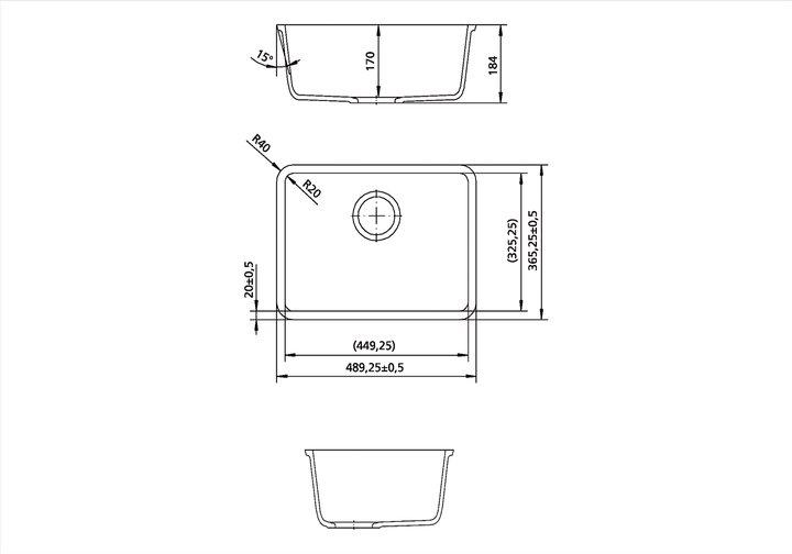 LG HiMacs® Spülbecken CS 449 RS
