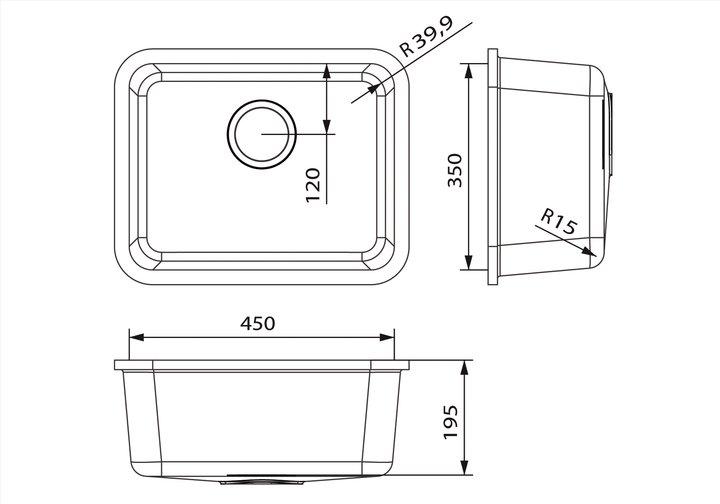 LG HiMacs® Spülbecken CS 453
