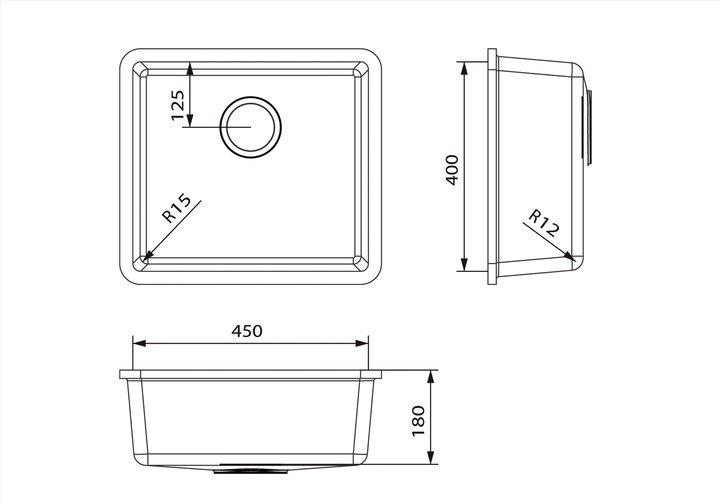 LG HiMacs® Spülbecken CS 454