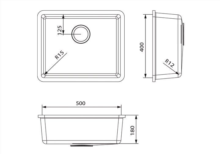 LG HiMacs® Spülbecken CS 504
