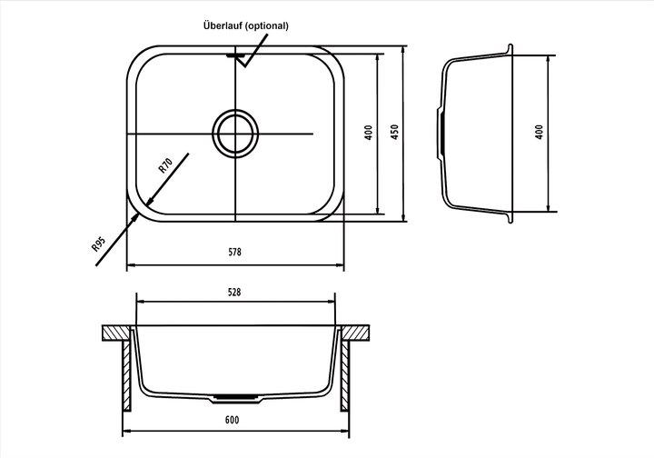 LG HiMacs® Spülbecken CS 528 R