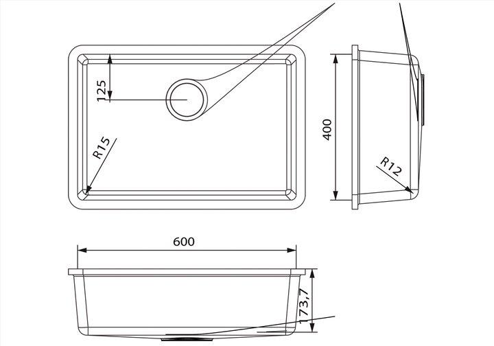 LG HiMacs® Spülbecken CS 604