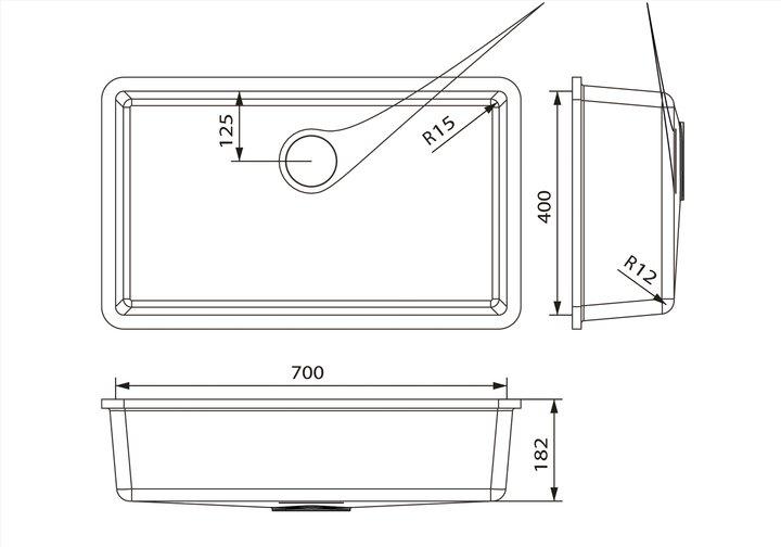 LG HiMacs® Spülbecken CS 704