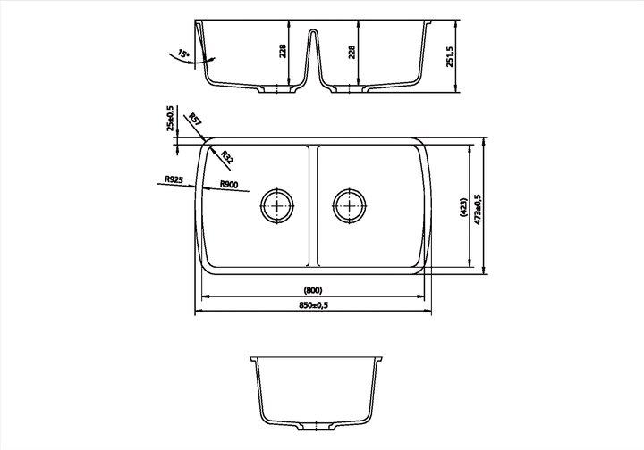 LG HiMacs® Spülbecken CS 800 D